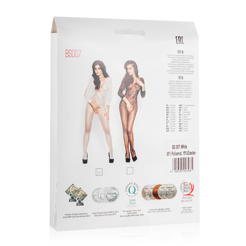 White Mesh Bodystocking With Open Crotch3