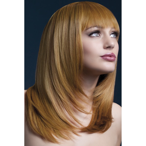 Wig With Layers - Chestnut Brown